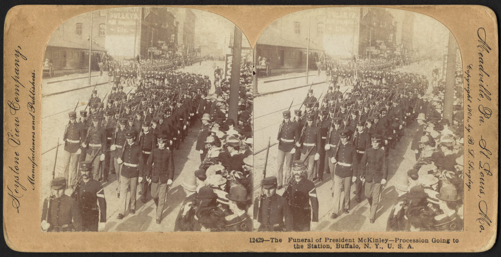 The funeral of President McKinley - procession going to the station, Buffalo, N.Y., U.S.A.