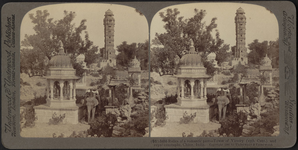 Tower of Victory and royal cenotaphs, Chitor, India