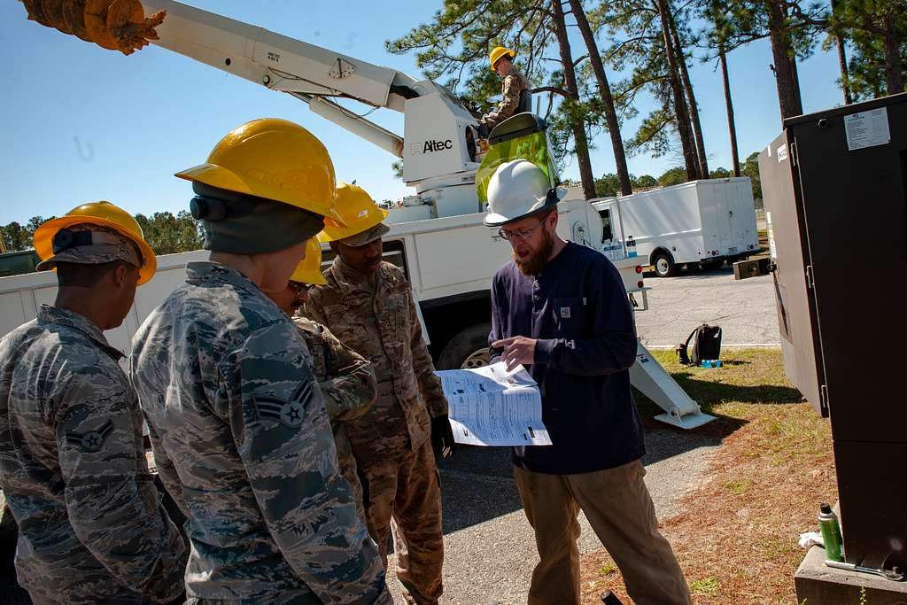 Airmen assigned to the 23d Civil Engineer Squadron