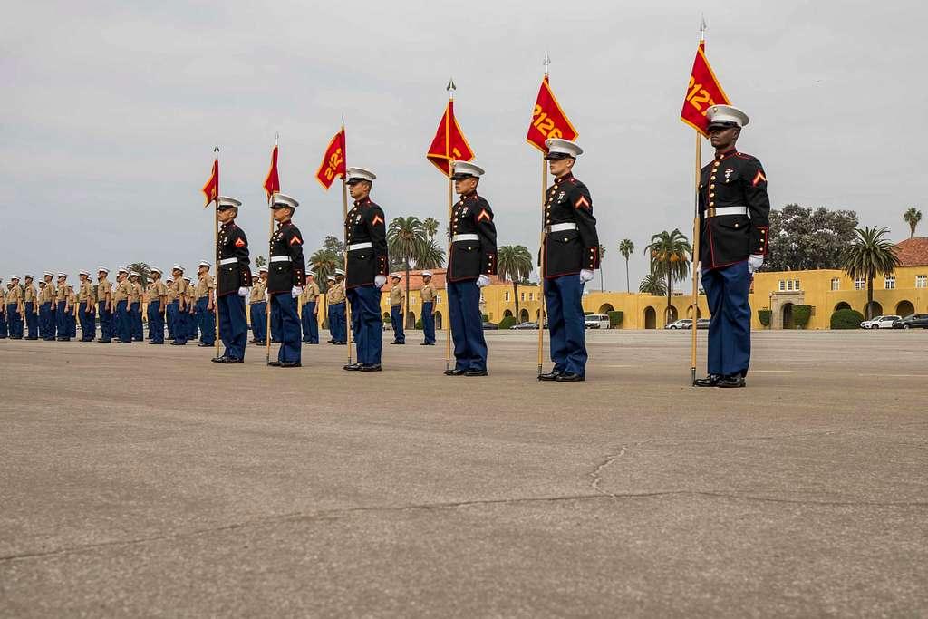 New Marines of Golf Company, 2nd Recruit Training Battalion,