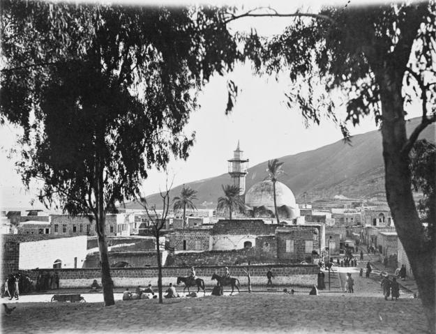 General view of Tiberias. Ottoman Empire.A01374