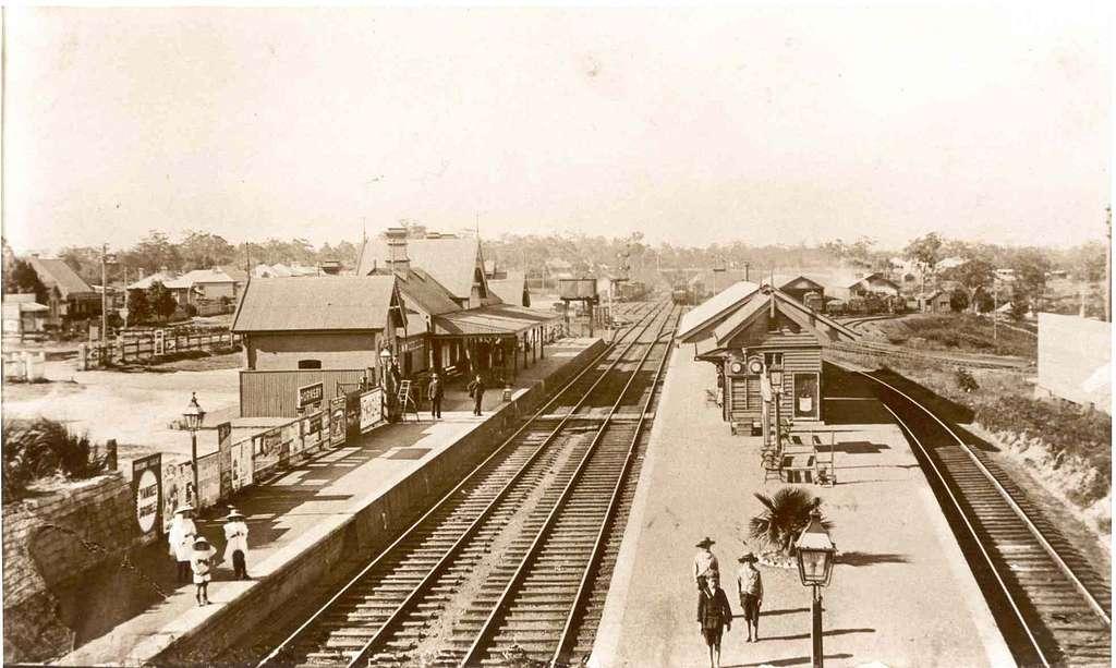 Hornsby railway station circa 1900