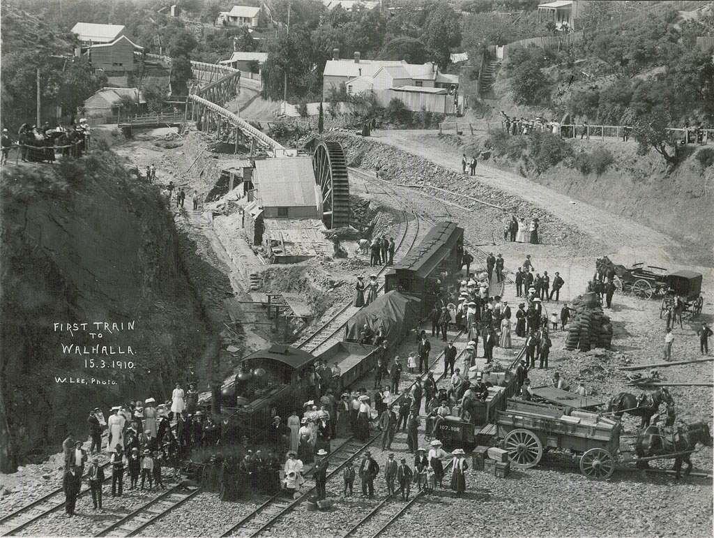 Walhalla 1910 first train