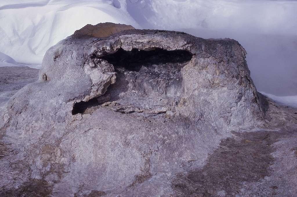 Middle vent of Union Geyser, Shoshone Lake Geyser Basin