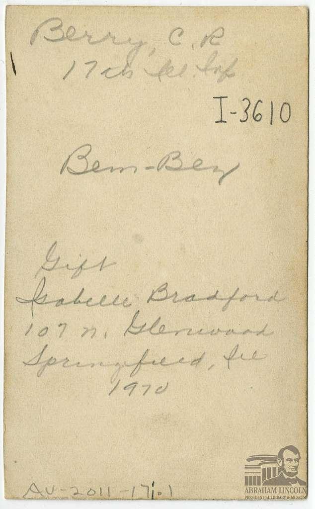 C. R. Berry (ALP BIB 1527)
