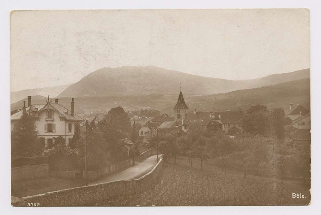 Archives Milvignes Carte Postale Bôle 1916 recto