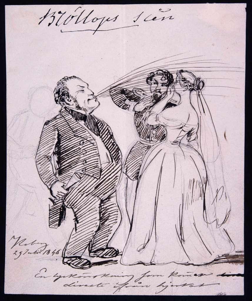 En lyckönskning som kommer direkt ifrån hjärtat. Fritz von Dardel, 1846 - Nordiska Museet - NMA.0038350