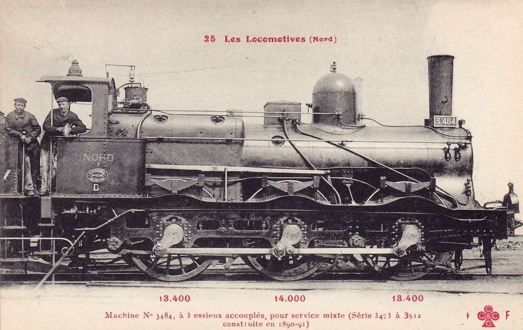 CCCC - FF 25 - Les Locomotives (Nord) - Machine No. 3484