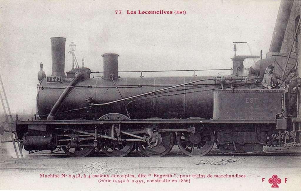 CCCC - FF 77 - Les Locomotives (Est) - Machine No. 0.543