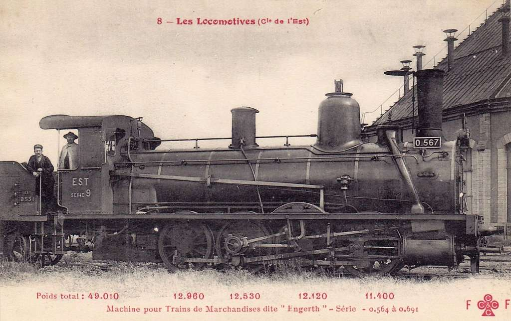 CCCC - FF 8 - Les Locomotives (Cie de l'Est) - Machine No. 0.567
