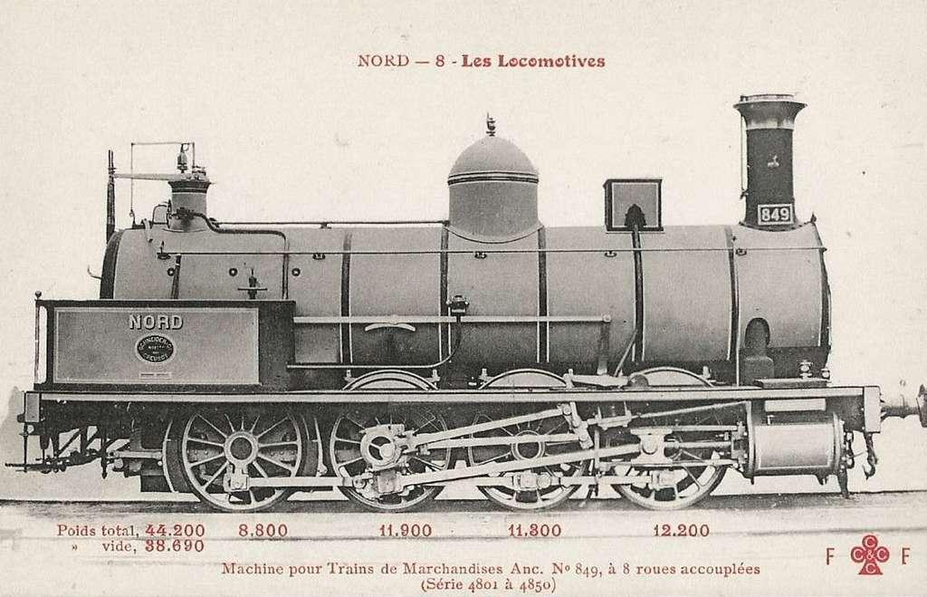 CCCC - FF 8 - Les Locomotives (Nord) - Machine No. 849