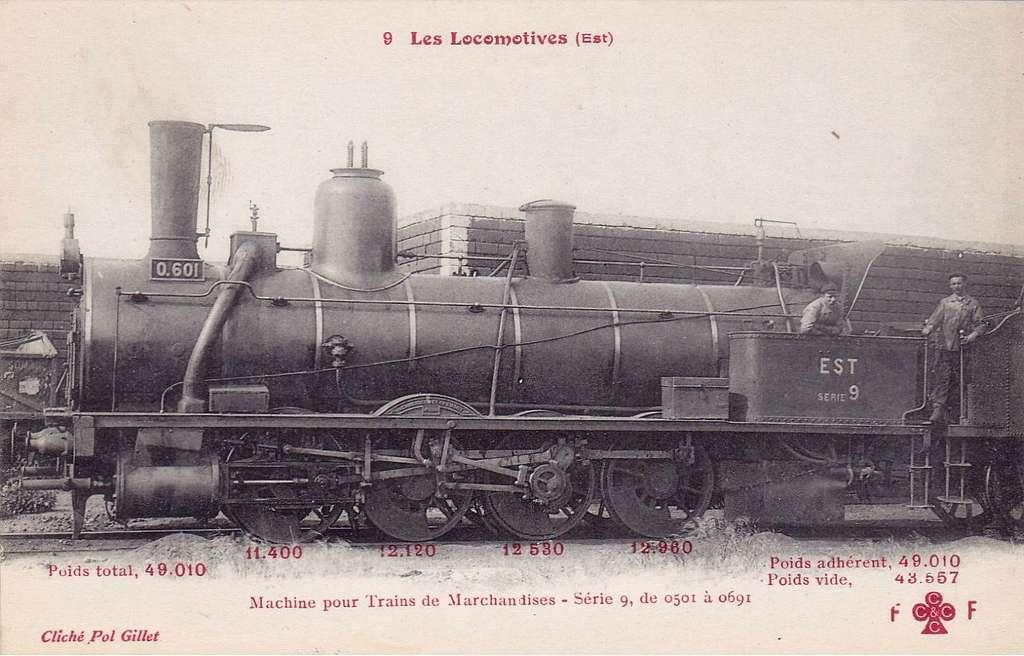 CCCC - FF 9 - Les Locomotives (Est) - Machine No. 0.601