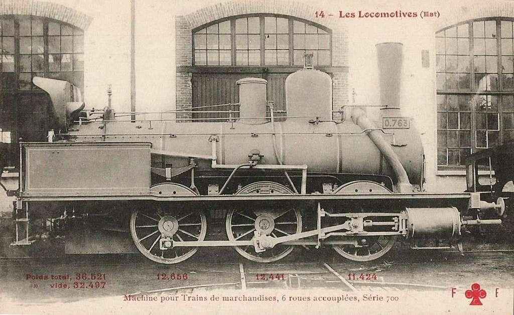 FF-CCCC 14 - Les Locomotives (Est) - Machine No 0763