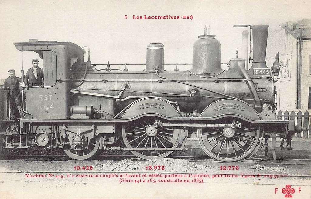FF-CCCC 5 - Les Locomotives (Est) - Machine No 445