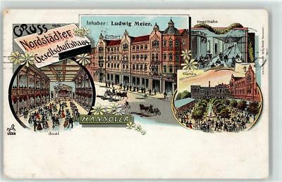 1898 circa Willy Hoehl Gruss vom Nordstädter Gesellschaftshaus Ludwig, Oberstraße 7 und 8, Bildseite