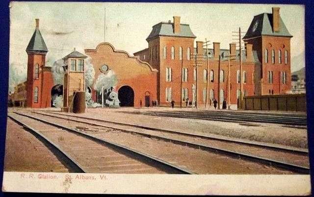 St. Albans station 1908 postcard
