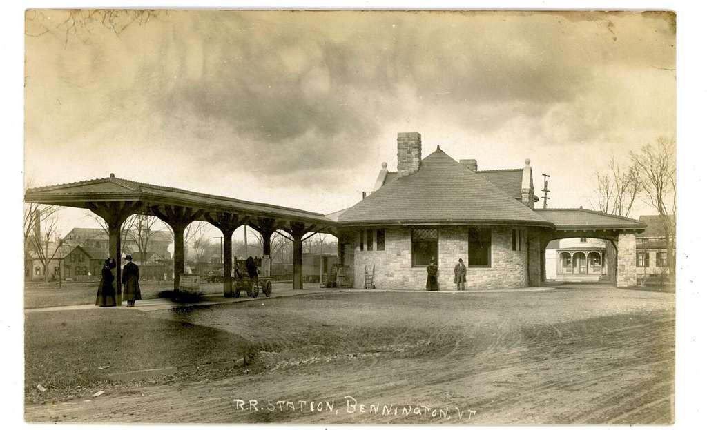 Bennington station 1907 photo postcard