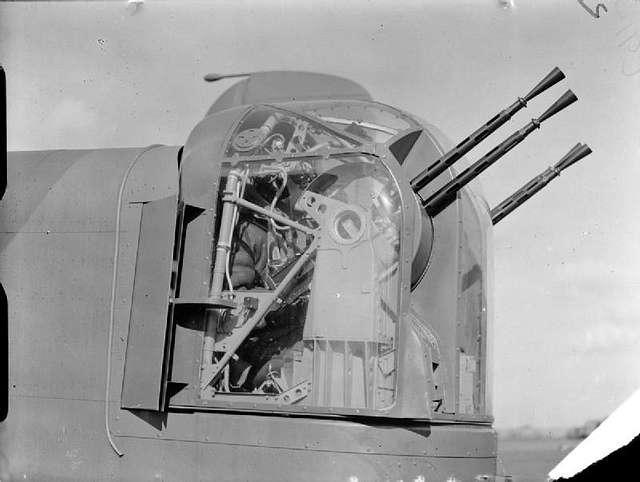 Whitworth tail gunner in turret WWII IWM C 913