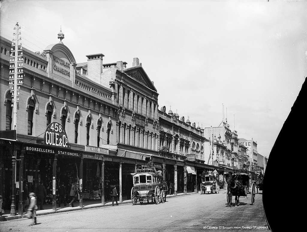 George Street from Market Street, Sydney, c 1900