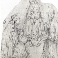 The Madonna and Child with a Female Martyr Saint, a Bishop Saint, and a Female Donor