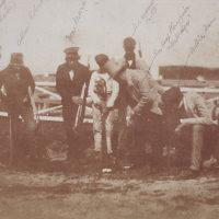 Captain David Campbell, Allan Robertson, Tom Morris, Bob Andrews, Sir Hugh Playfair and Watty Alexander. 'St Andrews Golfers'