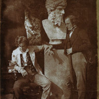 """David Octavius Hill and Professor James Miller. Known as 'The Morning After """"He greatly daring dined""""'"""