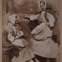 Two Newhaven fishwives, perhaps Mrs Elizabeth (Johnstone) Hall on the right