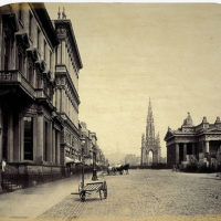 Princes Street, the Scott Monument and the Royal Institution