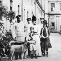 Emperor of Russia Alexander III with his family