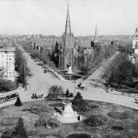 A view from Thomas Circle looking north, ca. 1900