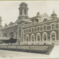 A view of the front facade, Immigration Station, Ellis Islan...