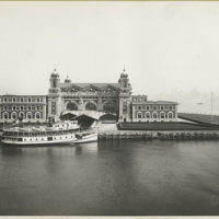 An excellent view of the front facade of the Immigration Sta...