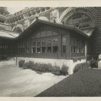 Detail of front entrance, U.S. Immigration Station, Ellis Is...