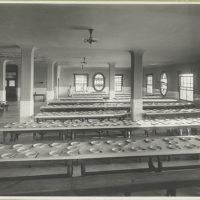 Dining hall on Ellis Island.