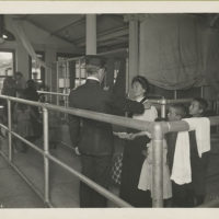 Immigrants undergoing medical examination.