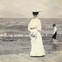 Koreshan Hattie L. Englert at the beach on Estero Island, Florida