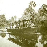 "Koreshans aboard the ""Victoria"" on the Estero River, Florida"