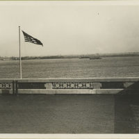 View of harbor from Ellis Island.