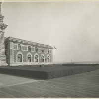 View of one wing of the Immigration Station, Ellis Island.