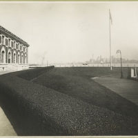[View of one wing of the Immigration Station, Ellis Island, ...