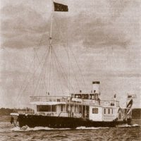 """The royal steamer """"Mezhen"""", on which the imperial family traveled along the Volga in May 1913."""
