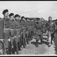 Earl Haig inspecting the guard of honour