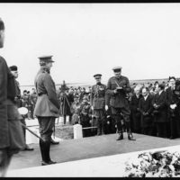 Earl Haig replying to the King of the Belgians and thanking him for unveiling the Memorial