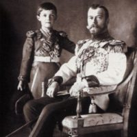 Emperor Nikolay II with the heir czarevich Alexey