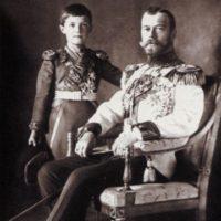 Emperor Nikolay II with the heir czarevich Alexey