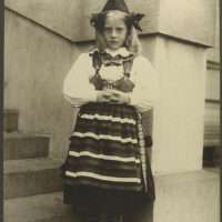 Girl from Rattvik, province of Dalarna, Sweden.