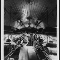 Interior of a ward on a British Ambulance Train in France