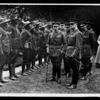 King inspecting the S.A.N. Labourers