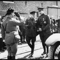 King of the Belgians being received by Earl Haig