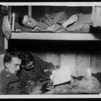 Life in a captured German dugout 50ft beneath the earth and safe from any shell